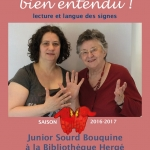 Bien lu, bien vu, bien entendu ! contes en langue des signes et en français – Samedi 16 décembre 2017 à 10h30