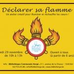 Déclarer sa flamme – Samedi 29 novembre 2014 de 10h à 13h