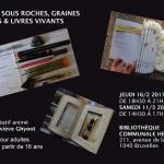 Écrits sous roches : atelier créatif avec Geneviève Ghyoot – Jeudi 16 février & samedi 11 mars 2017