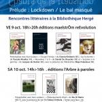 fiEstival maelstrÖm : rencontres littéraires – Vendredi 9 octobre 2020 de 18h à 20h & samedi 10 octobre 2020 de 14h à 16h