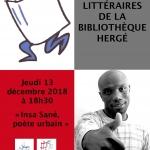 Retrouvez le catalogue et les photos d'Insa Sané, poète urbain : balade littéraire – Jeudi 13 décembre 2018 à 18h30
