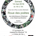 Roue des poètes & Balade arborescente – Samedi 14 mai 2016 de 14h30 à 18h