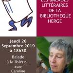 Balade à la lisière… avec Caroline Lamarche – 3ème Fête saisonnière 2019 le jeudi 26 septembre à 18h30