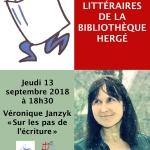 (Livres, coups de cœur, photos) Sur les pas de l'écriture : balade littéraire avec Véronique Janzyk – Jeudi 13 septembre 2018 à 18h30